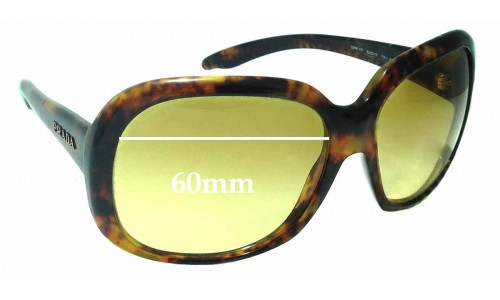 Sunglass Fix Sunglass Replacement Lenses for Prada SPR 17I - 60mm Wide