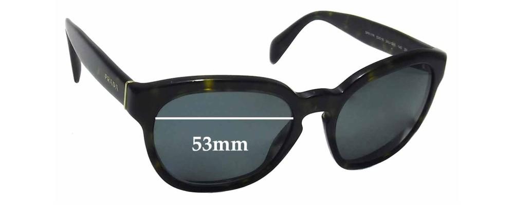 Sunglass Fix Sunglass Replacement Lenses for Prada SPR17R - 53mm Wide