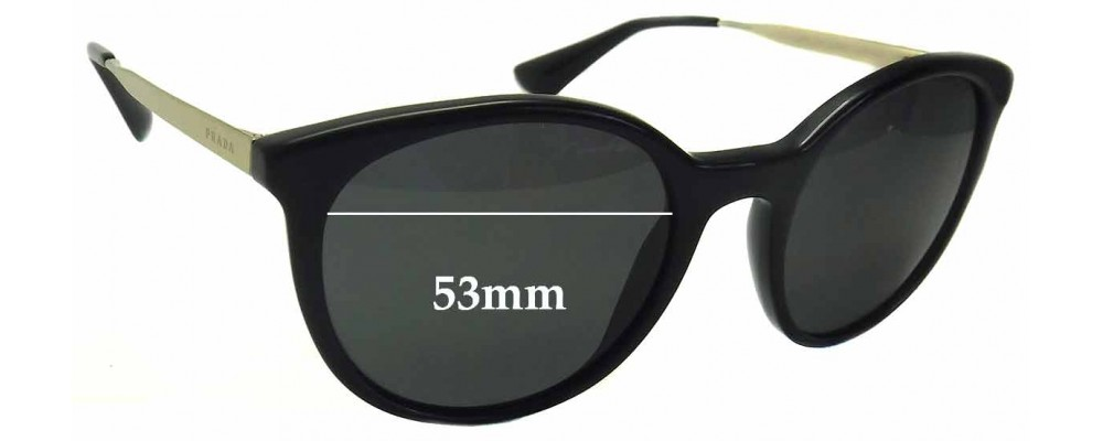 Sunglass Fix Sunglass Replacement Lenses for Prada SPR17S - 53mm Wide