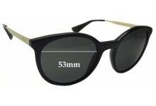 Sunglass Fix Sunglass Replacement Lenses for Prada SPR17S - 53mm Wide