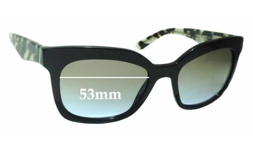 Sunglass Fix Sunglass Replacement Lenses for Prada SPR24Q - 53mm Wide