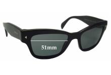 Sunglass Fix Sunglass Replacement Lenses for Prada SPR29R - 51mm Wide