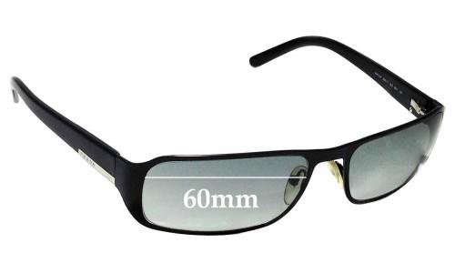 Sunglass Fix Sunglass Replacement Lenses for Prada SPR52F - 60mm Wide
