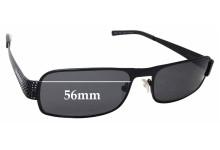 Sunglass Fix Sunglass Replacement Lenses for Prada SPR52I - 56mm Wide
