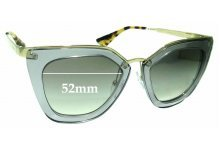 Sunglass Fix Sunglass Replacement Lenses for Prada SPR53S - 52mm Wide