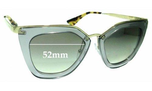 Sunglass Fix Sunglass Replacement Lenses for Prada SPR53S - 52mm Wide