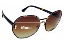 Sunglass Fix Sunglass Replacement Lenses for Prada SPR53T - 63mm Wide