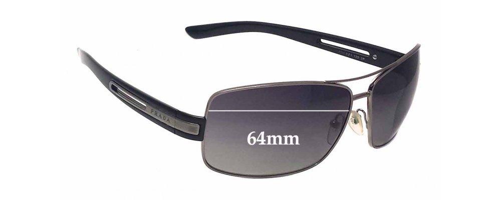 Sunglass Fix Sunglass Replacement Lenses for Prada SPR54I - 64mm Wide