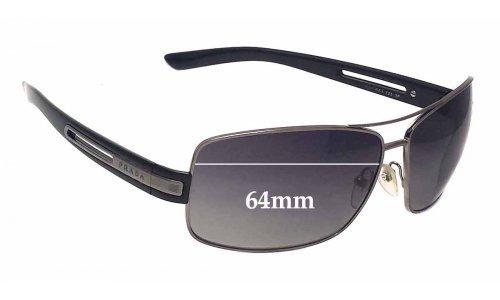 Sunglass Fix Sunglass Replacement Lenses for Prada SPR54I - 64mm lens