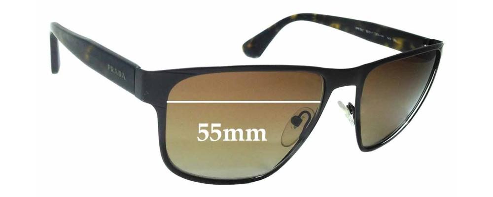 Sunglass Fix Sunglass Replacement Lenses for Prada SPR55S - 55mm Wide