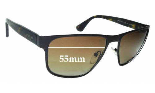 Sunglass Fix Sunglass Replacement Lenses for Prada SPR55S - 55mm Wide