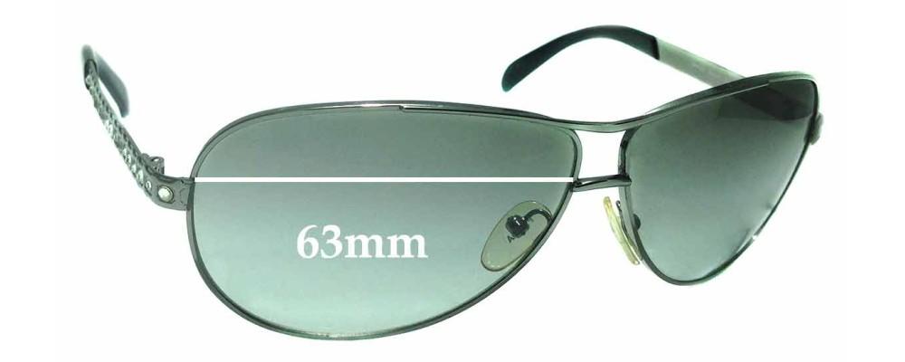 Sunglass Fix Sunglass Replacement Lenses for Prada SPR56I - 63mm Wide