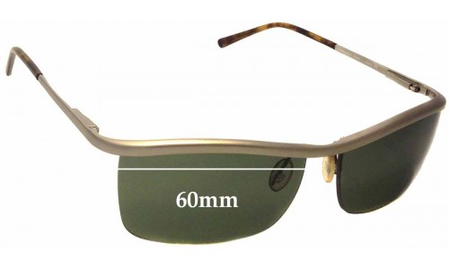 Sunglass Fix Sunglass Replacement Lenses for Prada SPR57C - 60mm wide