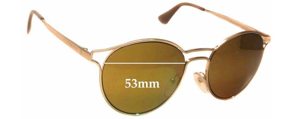 Sunglass Fix Sunglass Replacement Lenses for Prada SPR62S -53mm Wide