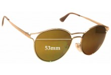 Sunglass Fix Sunglass Replacement Lenses for Prada SPR62S -53mm Wide