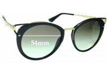 Sunglass Fix Sunglass Replacement Lenses for Prada SPR66T - 54mm Wide