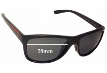 Sunglass Fix Sunglass Replacement Lenses for Prada SPS05P - 58mm Wide