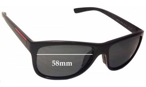 Sunglass Fix Sunglass Replacement Lenses for Prada SPS05P - 58mm wide