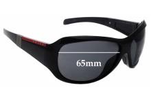 Sunglass Fix Sunglass Replacement Lenses for Prada SPS09I - 65mm Wide
