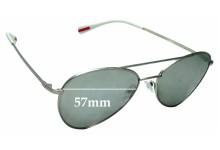 Sunglass Fix Sunglass Replacement Lenses for Prada SPS50S - 57mm Wide