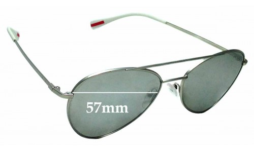 Sunglass Fix Sunglass Replacement Lenses for Prada SPS 50S - 57mm wide