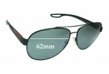 Sunglass Fix Sunglass Replacement Lenses for Prada SPS55Q - 62mm Wide