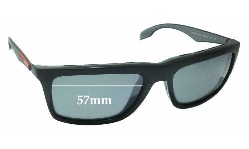 Sunglass Fix Sunglass Replacement Lenses for Prada SPS 02P - 57mm wide