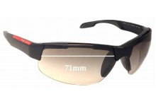 Sunglass Fix Sunglass Replacement Lenses for Prada SPS03P - 71mm Wide