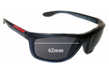Sunglass Fix Sunglass Replacement Lenses for Prada SPS04P 62mm Wide