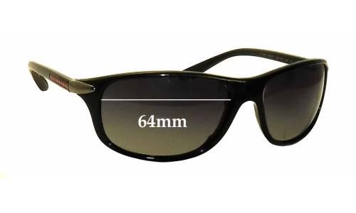 Sunglass Fix Sunglass Replacement Lenses for Prada SPS05M - 64mm wide