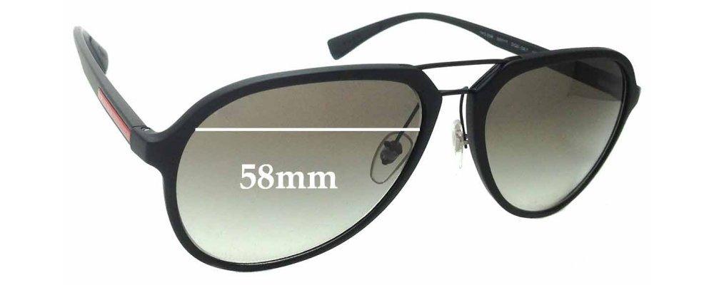 Sunglass Fix Sunglass Replacement Lenses for Prada SPS05R - 58mm Wide