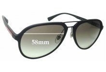 Sunglass Fix Sunglass Replacement Lenses for Prada SPS05R - 58mm Wide