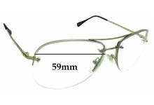 Sunglass Fix Sunglass Replacement Lenses for Prada SPS50R - 59mm Wide