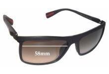 Sunglass Fix Sunglass Replacement Lenses for Prada SPS51P - 58mm Wide