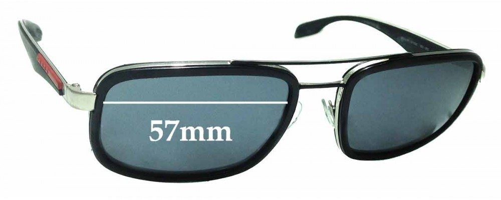Sunglass Fix Sunglass Replacement Lenses for Prada SPS52P - 57mm Wide