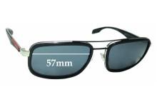 Sunglass Fix Sunglass Replacement Lenses for Prada SPS52P - 57mm Wide