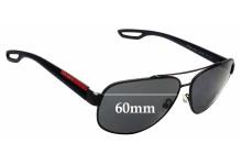 Sunglass Fix Sunglass Replacement Lenses for Prada SPS58Q - 60mm Wide