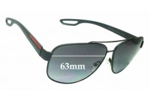 Sunglass Fix Sunglass Replacement Lenses for Prada SPS58Q - 63mm Wide