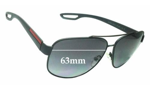 Sunglass Fix Sunglass Replacement Lenses for Prada SPS58Q - 63mm wide