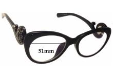 Sunglass Fix Sunglass Replacement Lenses for Prada VPR060 - 51mm Wide