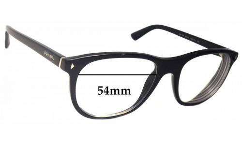 Sunglass Fix Sunglass Replacement Lenses for Prada VPR 17R - 54mm wide