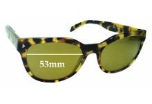 Sunglass Fix Sunglass Replacement Lenses for Prada VPR21S - 53mm Wide