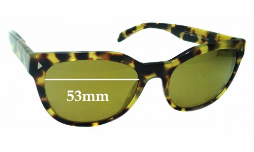 Sunglass Fix Sunglass Replacement Lenses for Prada VPR21S - 53mm Wide