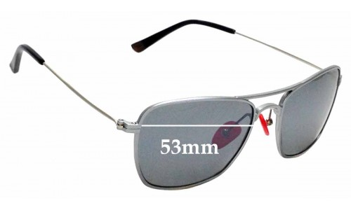 Sunglass Fix Sunglass Replacement Lenses for Proof Overland - 53mm Wide