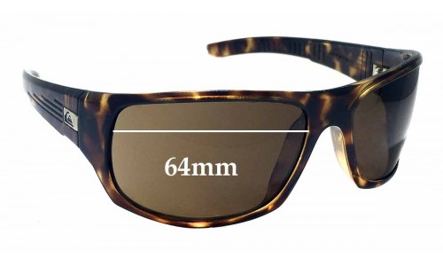 Sunglass Fix Sunglass Replacement Lenses for Quiksilver The Crush 64mm Wide