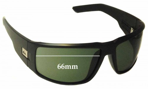 Sunglass Fix Sunglass Replacement Lenses for Quiksilver The Slab QS1170 - 66mm Wide