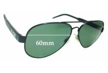 Sunglass Fix Sunglass Replacement Lenses for Ralph Lauren Polo 3056 - 60mm Wide