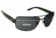 Sunglass Fix Sunglass Replacement Lenses for Ralph Lauren Polo PH 3087 - 64mm Wide