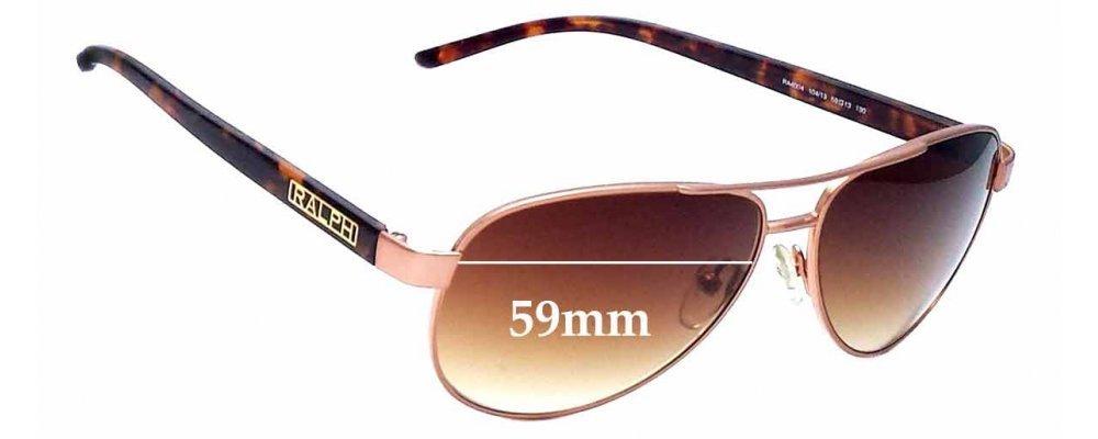 f5f6424cf5 Ralph Lauren RA 4004 Sunglass Replacement Lenses - 59mm wide ...