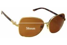 Sunglass Fix Sunglass Replacement Lenses for Ralph Lauren RL 7028 - 58mm Wide